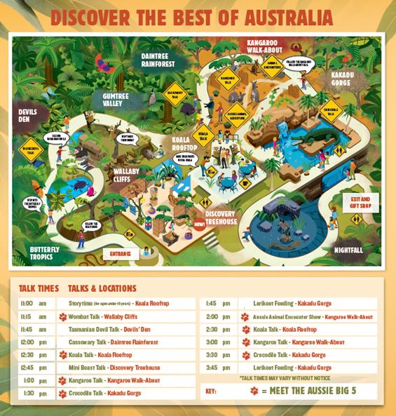 Map Of Wild Life Sydney Map Of Wild Life Sydney